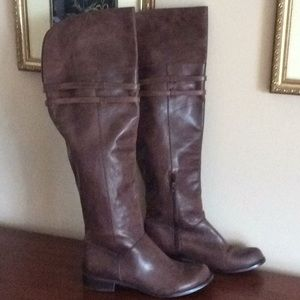BCBG Over the Knee Brown Leather Boots- 9.5B
